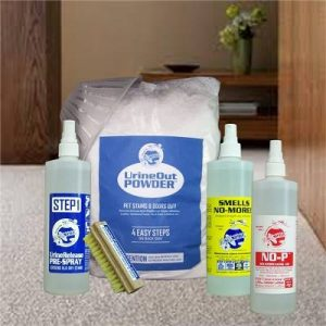 remove cat urine from carpet with Planet Urine products